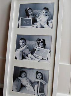 Et bedårende portrett av barnebarna: Med en like vakker hilsen. Foto: northwestlovelies.com