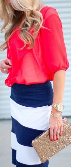 Red white and blue ♥✤   Keep the Glamour   BeStayBeautiful