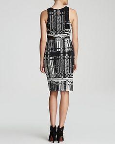 Trina Turk Dress - Kathleen Sleeveless Plaid Cutout Sheath | Bloomingdale's