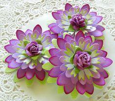 Paper Flowers-Purple Daisy Rose on Etsy, $3.19