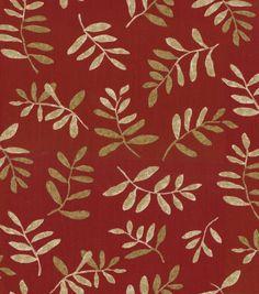 Home Decor Fabric-Pkaufmann Canvas Native Leaves Red: home decor fabric: fabric: Shop | Joann.com
