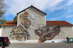 Scratching the Surface: Artist Carves Giant Portraits Into Old Building Walls