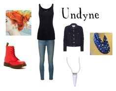 """""""UNDYNE DATE"""" by lilzezthenyan ❤ liked on Polyvore featuring art"""