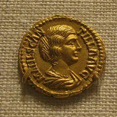 Gold Aureus of Didius Julianus Draped  bust of  Manlia Scantilla,wife of Didius  Julianus Rome  193 AD