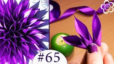 Acute petal kanzashi Master Class / All petals kanzashi # 65 Острый лепесток… Diy Lace Ribbon Flowers, Ribbon Flower Tutorial, Paper Flowers Craft, Ribbon Art, Ribbon Crafts, Flower Crafts, Fabric Flowers, Diy Ribbon, Fleurs Kanzashi
