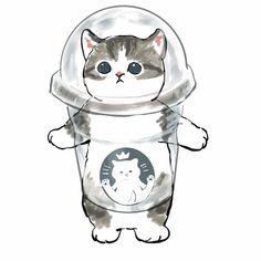 Cute Kawaii Animals, Cute Animal Drawings Kawaii, Kawaii Cat, Cute Little Animals, Kitten Drawing, Cute Cat Drawing, Cute Baby Cats, Kittens Cutest, Cute Food Drawings
