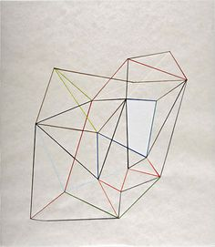 """Victoria Haven, Untitled (third), 2008, Ink and pencil on gampi paper, 26.5"""" x 23.25"""""""