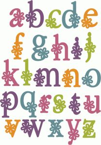 A - Z Alphabet - Flower lowercase - Silhouette Online Store Silhouette Design, Silhouette Cutter, Silhouette Images, Silhouette Cameo Projects, Creative Lettering, Lettering Styles, Hand Lettering, Handlettering Abc, Flower Alphabet