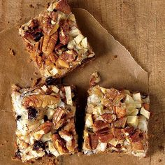 Apple Hello Dolly Bars | Hello Dolly Bar fans will love this fresh twist that uses chopped apples, butterscotch morsels, and plenty of crunchy pecans and toasted coconut. Everyone will rave about these bars and they'll be gone before you know it!
