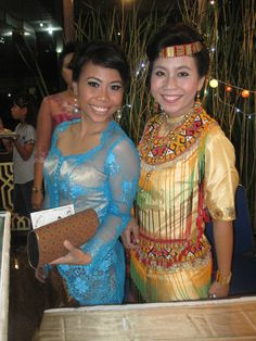 Indonesian girls (me and my sister) wear traditional clothes