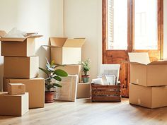 Moving boxes and potted plants at new apartment You are in the right place about House Moving checklist Here we offer you the most beautiful pictures about the House Moving truck you are looking for.