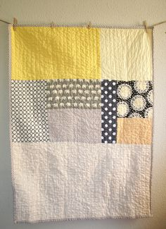 Reserved Listing - 2 Crib To Toddler Size Quilts In Contemporary Style With…