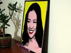 Retrato de Zhang Ziyi convertido en arte pop. Podemos hacer lo mismo con tus fotografías favoritas http://www.elsurdelcielo.com