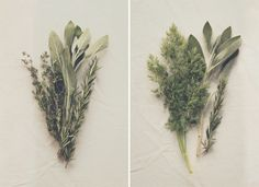 DIY Wedding Bouquet Tutorial: How To Make Herb Bouquets for your wedding centerpieces