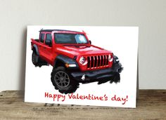 Excited to share this item from my #etsy shop: Jeep Birthday Card. Thank you card. Customize your card, valentines day card, automotive enthusiast card, 4x4 jeep love, set of 10 cards