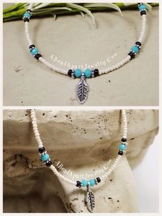 Sterling Silver Anklet, Silver Anklets, Beadwork, Beading, Turquoise Necklace, Beaded Necklace, Mothers Bracelet, Celtic Heart, Beach Anklets