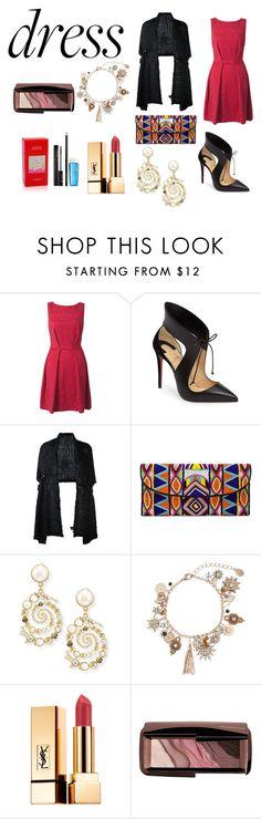 """dress"" by sveta93 on Polyvore featuring moda, Closet, Christian Louboutin, Simone Rocha, ASPIGA, Lulu Frost, Accessorize, Yves Saint Laurent, Hourglass Cosmetics e Lancôme"