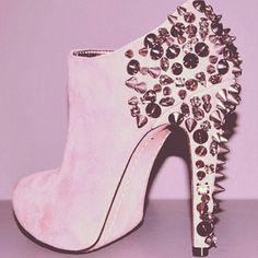 My two favorite things together, Ankle boot and spikes!