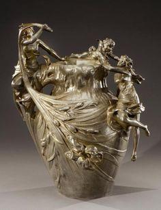 Complementi D'arredo Arte E Antiquariato Honest Art Nouveau Ciotola Ninfe Stile Liberty Ciotola Decorativa Personaggi Femminili