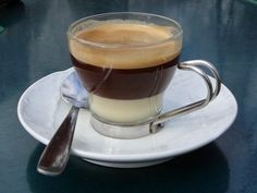 Cafe bombon equal parts espresso and sweetened condensed milk