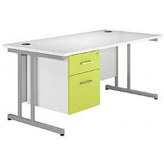 Kaleidoscope Cantilever Single Fixed Pedestal Desks
