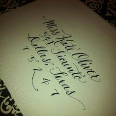 Calligraphy by Kathleen