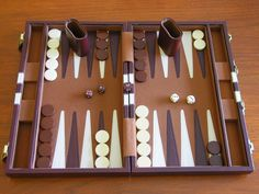 Backgammon.  The classic 2 player abstract game that I fell in love with as a kid.