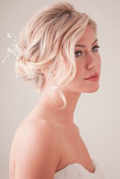30 Most-Pinned Beautiful Bridal Updos | Boho Wave