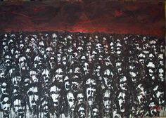 The walk  Acrylic on paper on canvas 96x137 cm 11.1999 © Karino Amade