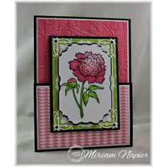 Serendipity Stamps Peony rubber stamp