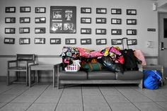 Strength grows in the moments you think you can't go on, but you keep going anyway. A new family's belongings sit on a couch at Providence House.