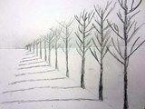 Artsonia Art Exhibit :: Row of Trees