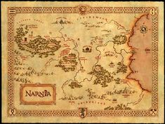 Narnia is a fantasy world created by C. Lewis as the primary location for his series of seven fantasy novels for children, The Chronicles of Narnia. Cs Lewis, Fantasy Map, Fantasy World, Writing Fantasy, Fantasy Films, Fantasy Books, Map Of Narnia, Narnia 3, Narnia Movies