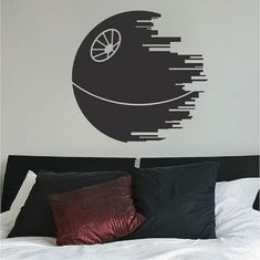 Death Star Wall Decal Star Wars Wall Decal by TrendyWallDesigns