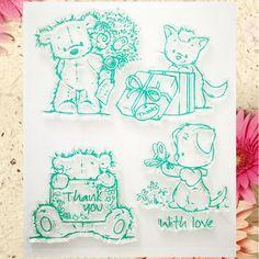 Karty notatniku DIY photo konto pieczątka jasne wykończone przejrzyste rozdział stamp sprytny kot dziękuję Z miłością 12*14 w wszystkie nasze produkty obsługują ODM i OEM zamówienia  rozmiar:12x14cm  materiał:silikon  ilość:1 arkuszy/lot  fantast od Stamps na Aliexpress.com   Grupa Alibaba