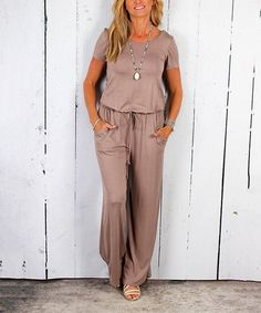 Look at this Luxe Couture Mocha Jumpsuit on #zulily today!