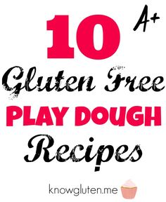You can't buy Play Doh if you can't eat gluten. It's made with wheat. And worse, it's sticky. It gets gluten all over the play surface, all over the children playing, all over everything they touch...