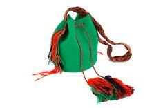 Emerald green mochila