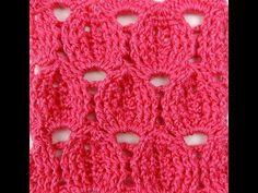 Crochet: Punto en Relieve - The Ayi Crochet Crocodile Stitch, Crochet Granny, Crochet Stitches, Free Crochet, Crochet Patterns, Granny Square Tutorial, 3d Pattern, Textiles, Crochet Videos