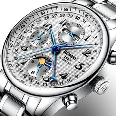 66.61$  Watch now - http://alibjt.shopchina.info/1/go.php?t=32802150563 - Switzerland BINGER watches men luxury brand Multiple functions Moon Phase sapphire Calendar Mechanical Wristwatches B-603-8  #buymethat