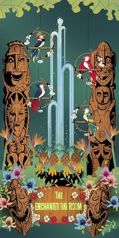 Welcome to Walt Disneys Enchanted Tiki Room! Being your Dole Whip and sing like the birdies sing. Inspired by the Enchante Tiki Room at Disneyland, CA. Disney Love, Disney Magic, Disney Theme, Disney Parks, Walt Disney, Tiki Room Disney, Disney 2015, Disney Rides, Punk Disney