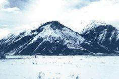 Mountain Laser Print Denim Poster by DenimArts on Etsy, $16.50