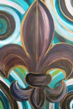 paintings of fleur de lis - Google Search