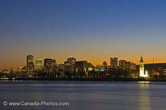 Montreal City Old Port Skyline Dusk