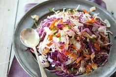 """""""Cabbage makes a fabulous salad base, the trick is to slice it as finely as you can and then work it between your fingers - this transforms the texture and it becomes really juicy"""" - Annabel Langbein"""