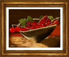 """Red Currants"" 12"" x 16"" Frame not included. Original painting by Sheryl Gallant"