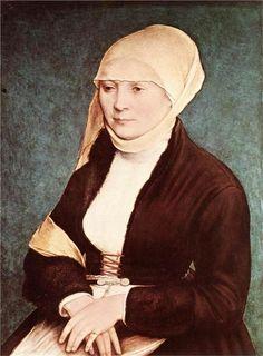 Portrait de femme du sud de l'Allemagne, autrefois attribué à Hans Holbein, le Jeune (vers 1520-1525)