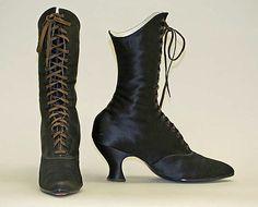 1890-1900, America - Silk boots