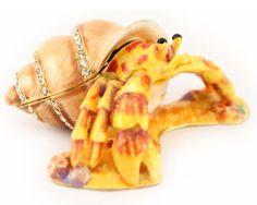 Hermit-Crab-Jewelry-Trinket-Box-Collectible-Enamel-Ocean-Decoration-Sea-02074