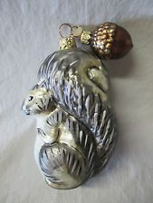 Dept 56 glass squirrel and nut ornament